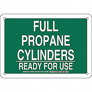 "Chemical, Gas or Hazardous Materials, No Header, Plastic, 7"" x 10"", With Mounting Holes"
