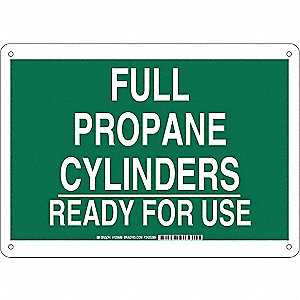 Chemical Sign,Plastic,10 x 14 in,Wht/Grn
