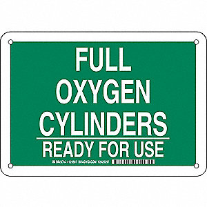Chemical Sign,Alum,7 x 10 in,Wht/Grn