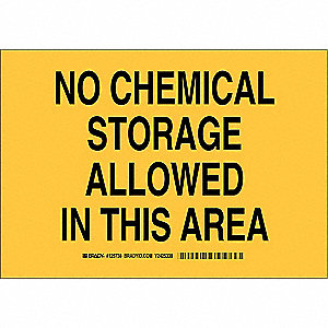 "Chemical, Gas or Hazardous Materials, No Header, Polyester, 7"" x 10"", Adhesive Surface"