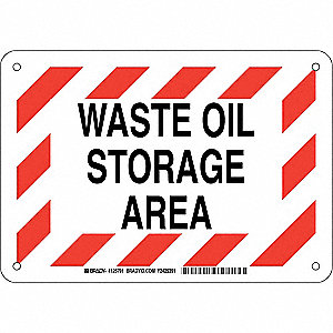 Chemical Sign,Plastic,7 x 10,Blk/Red/Wht