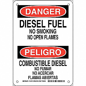 "No Smoking, Danger/Peligro, Plastic, 10"" x 7"", With Mounting Holes, Not Retroreflective"
