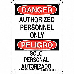 DANGER/PELIGRO SIGN 10X7