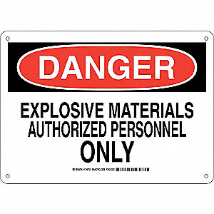 "Authorized Personnel and Restricted Access, Danger, Aluminum, 10"" x 14"", With Mounting Holes"
