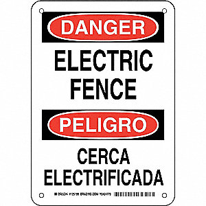 "Electrical Hazard, Danger/Peligro, Aluminum, 10"" x 7"", With Mounting Holes, Not Retroreflective"