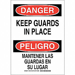 "Danger Sign,14"" x 10"",Polyester"