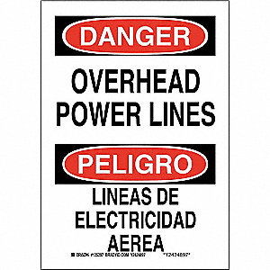 "Electrical Hazard, Danger/Peligro, Plastic, 14"" x 10"", With Mounting Holes, Not Retroreflective"