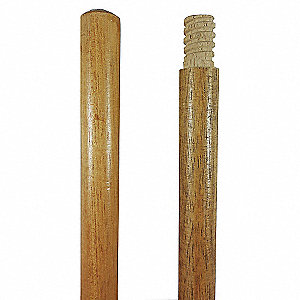 54X1-1/8 LACQ WOOD HNDL THRDED TIP