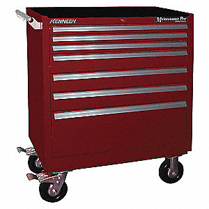 STORAGE 7DRW 34IN MAINT PRO RC RED