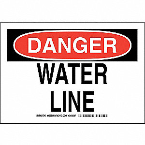 "Facility, Danger, Polyester, 7"" x 10"", Adhesive Surface, Not Retroreflective"