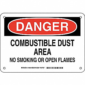 Danger No Smoking Sign,Combustible,7x10