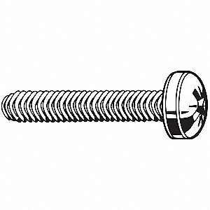 10mm Case Hardened Steel Thread Rolling Screw with Cross Recessed Raised Cheese Head Type; PK250