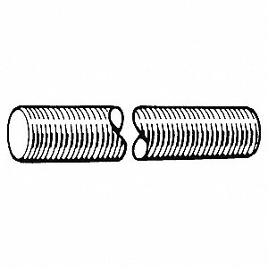M6-1.00x3m, Threaded Rod, Steel, Class 4, Zinc Plated