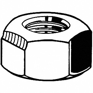 Lock Nut,5/16-24,Gr 8,ZP,PK2200
