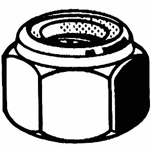 Lock Nut,1/2-13,Gr 2,ZP,PK625
