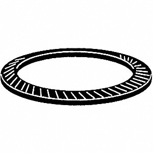Disc Spring,0.5mm Thick,Steel,PK100