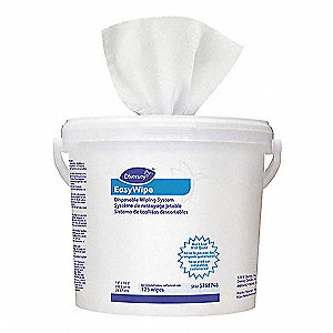 White Meltblown Polypropylene Disposable Wipes Refill, Number of Sheets 120, Package Quantity 6