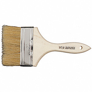 "4"" Chip Hog Hair Paint Brush, Soft, for All Paint & Coatings, 1 EA"