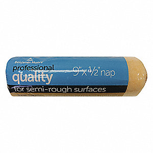 Paint Roller Cover,9 In,Nap 1/2 In