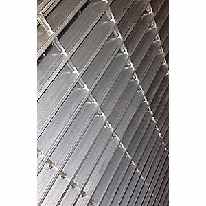 Swaged Grating,Smooth,24in.Wx1.25in.H
