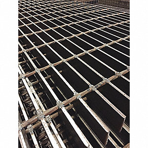 "Smooth Carbon Steel Bar Grating, 24"" L X 24"" W X 1.25"" H, Carbon Steel Finish - Grating"