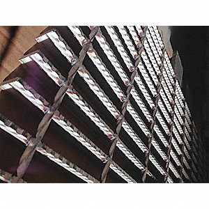 "Serrated Surface Welded Grating, 144"" Span, 24"" Width, 1"" Height"