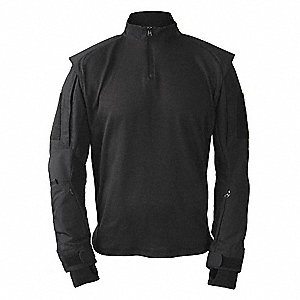 Tactical Shirt Long Sleeve, 3XL, Black