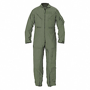 "Flight Suit, 50"" Regular, Green"