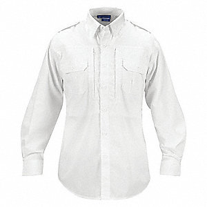 Tactical Shirt Long Sleeve, L3, White