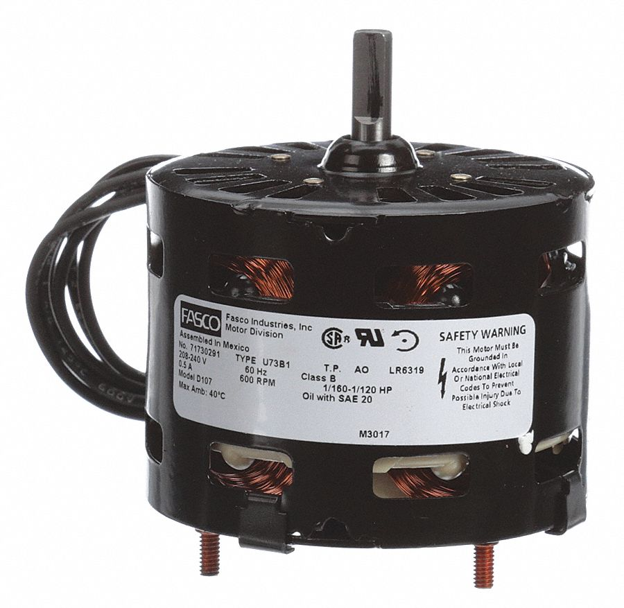 Fasco 1 160 Hp Hvac Motor Shaded Pole 600 Nameplate Rpm 208 240 Rice Cooker Circuit C Cooking Timer Voltage Frame 33 38n526 D107 Grainger
