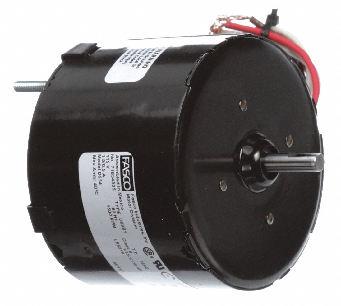 OEM Replacement Motor,  1/35, 1/110 HP,  Shaded Pole,  Nameplate RPM 1,500,  No. of Speeds 2