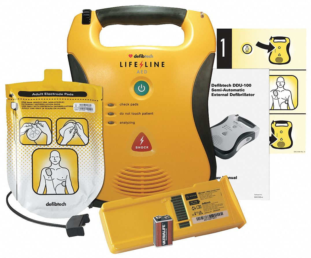 Semi-Automatic Lifeline AED with Rx, AHA Compliant
