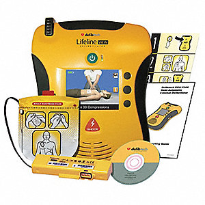 Semi-Automatic Lifeline VIEW AED, AHA Compliant