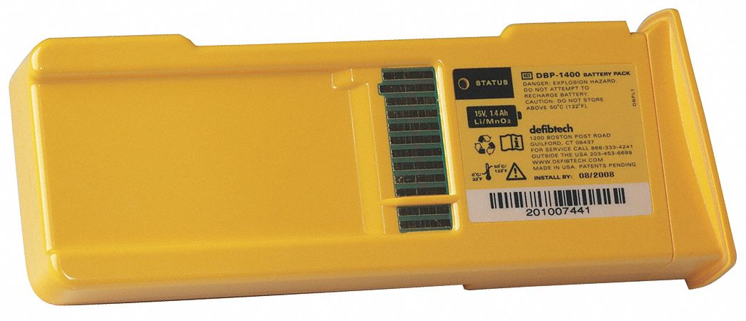 Lifeline AED 5 yr. Battery Pack; For Use With Mfr. No. DCF-A100-RX-EN