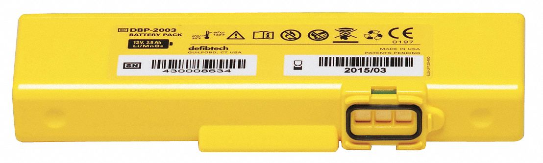 View AED 4 yr. Battery; For Use With Mfr. No. DCF-A2310RX
