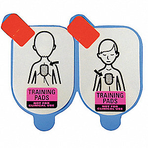 "12"" Adult Training Electrode Pads; For Use With Mfr. No. DCF-A100-RX-EN, DCF-350T-EN"