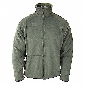 "Tactical Fleece Jacket, M Fits Chest Size 56"", Foliage Green Color"