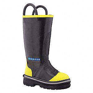 Men's Insulated Firefighter Boots, Size 15, Footwear Width: W, Footwear Closure Type: Pull On
