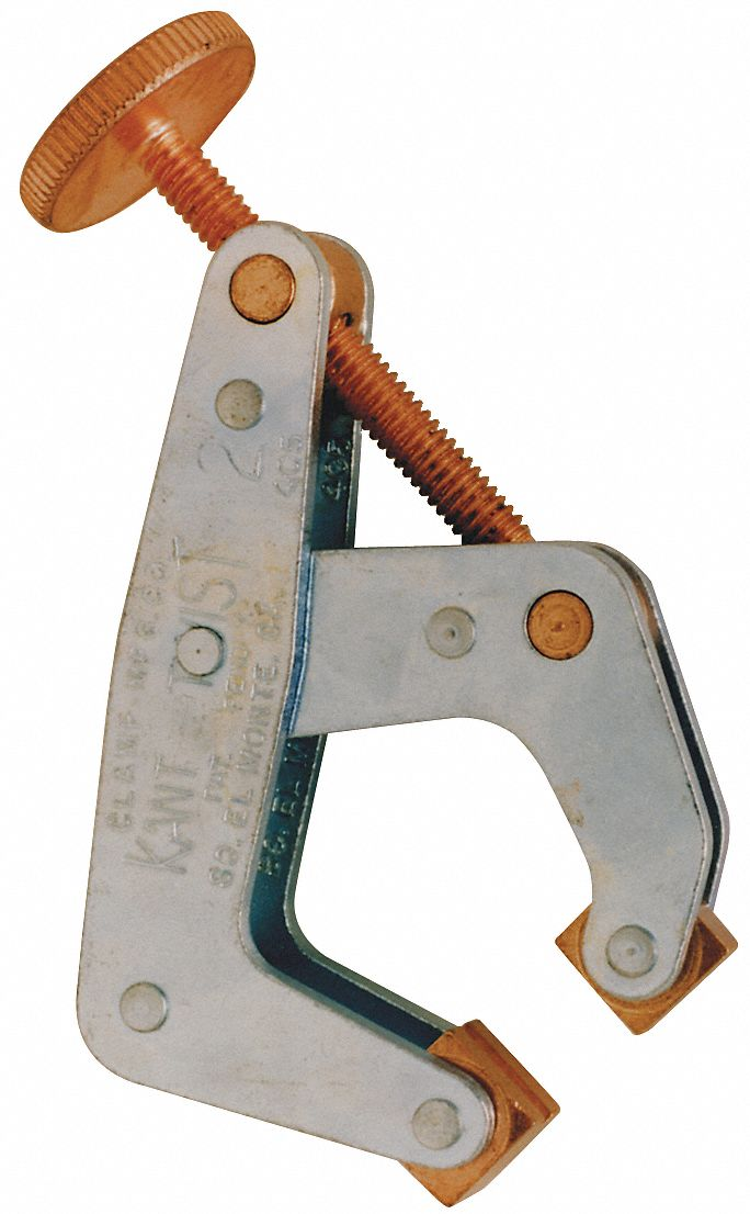 Cantilever Clamp,  Steel,  Zinc Plated,  1 in Max. Opening,  1/2 in Throat Depth