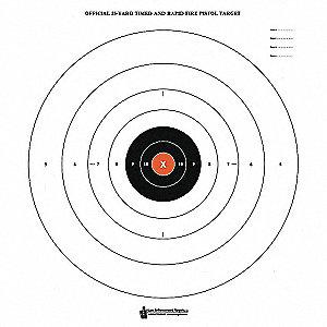Bullseye Target with Orange Center, PK50
