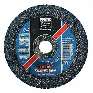 Radial,  Flap Disc,  Zirconia Alumina,  6 in Disc Diameter,  40 Abrasive Grit