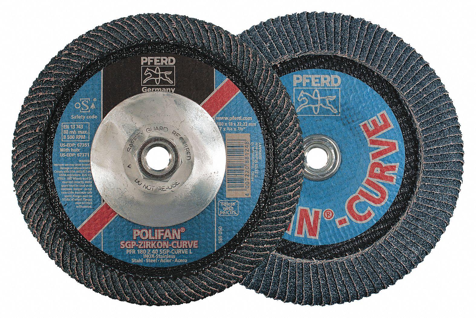320 Grit 6 Diameter Pack of 50 PFERD 47385 Pressure Sensitive Adhesive Disc Aluminum Oxide A