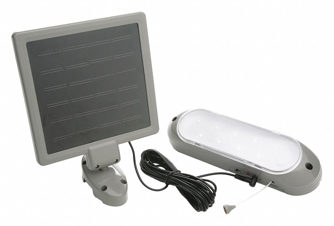 Solar Light,  6,500 K Color Temperature,  319 lm,  7 W Fixture Wattage,  1.6V AC