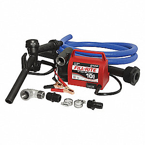 Fuel Transfer Pump,10 gpm,8 ft. Hose
