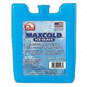 "Reusable Ice Block, 5-1/4"" x 3/4"" x 4-1/4"", Blue"