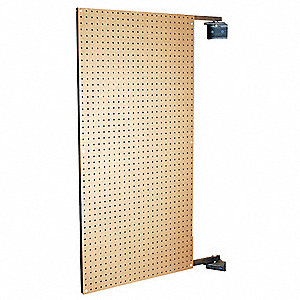 "Hardwood Pegboard Swing Panel with 275 lb. Load Capacity, 48""H x 24""W, Brown, 1 EA"
