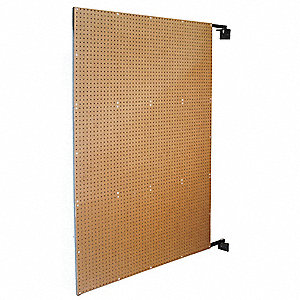 "72"" x 48"" Steel/Hardwood Pegboard with 575 lb. Load Rating, White"