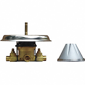 Antiligature Shower Valve, Brass , Cast Aluminum and Stainless Steel