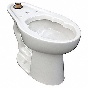 Bedpan Holding Toilet Bowl, Floor Mounting Style, Elongated, 1.1 to 1.6 Gallons per Flush