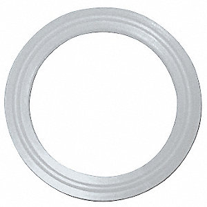 "Coupler Thermocouple Gasket, 3.843"" Inside Dia., 4.685"" Outside Dia., Platinum Silicone, 4"" Tube Siz"